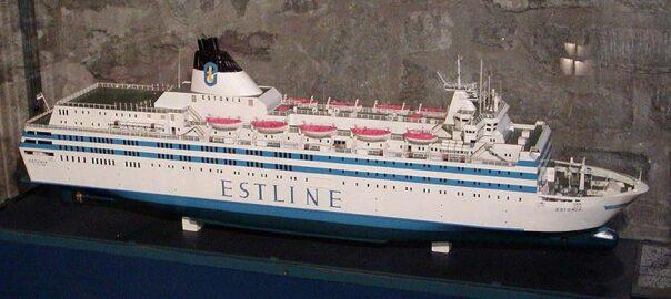 Modell av M/S Estonia i estniska sjöfartsmuseet, Tallinn.