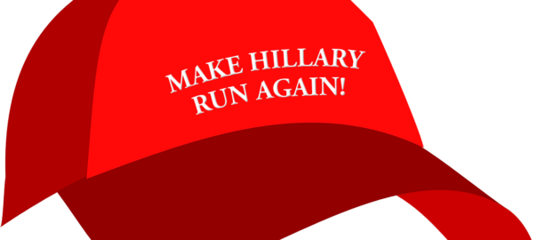 Keps med texten Make Hillary run again!